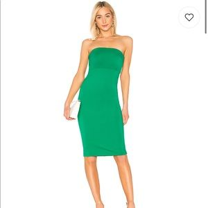 NBD Lost Paradise Midi Dress in Kelly Green